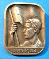 SUISSE MEDAILLE BROCHE I.VIII 1934 / HUGUENIN LOCLE - Unclassified