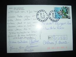 CP TP YT 3472 LA MOBYLETTE 0,46E OBL.5-6-2003 TURENNE (19 CORREZE) - Marcofilie (Brieven)