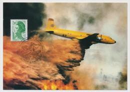 FRANCE => 2 Cartes - Cachet Commémo. XXVeme Anniversaire Des Bombardiers D'eau - 13 MARIGNANE - 15/10/1986 - Storia Postale