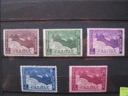 Timbres Belgique : CARITAS 1927 N° 249, 250, 251, 252, 253 Neuf Avec Charnière * - Belgium