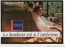 """MOBILIER DE FRANCE. """" LE BONHEUR EST À L'INTÉRIEUR """" . CARTE PUB. MEUBLE BERTRAND VILLENEUVE-SUR-LOT - Réf. N°12192 - - Commerce"""