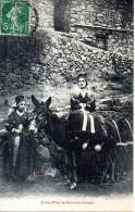 09 - BETHMALE Jeunes Filles De Bethmale Avec Un âne - Autres Communes