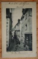 56 : Ploermel - La Rue Beaumanoir - Embossée & Animée : Petite Animation - Dos : Cachet Militaria Artillerie - (n°4914) - Ploërmel