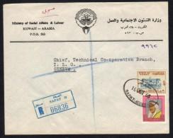 SAFAT - KOWEIT - KUWAIT / 1965 LETTRE OFFICIELLE RECOMMANDEE POUR LA SUISSE (ref 4671)
