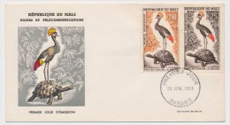 MALI => Enveloppe FDC => Protection De La Faune - Premier Jour - BAMAKO - 23 Novembre 1963 - Mali (1959-...)