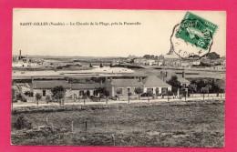 85  Vendée  ST GILLES-CROIX-DE-VIE LE  CHEMIN  DE  LA  PLAGE  PRES  LA  PASSERELLE - Saint Gilles Croix De Vie