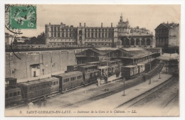 78 YVELINES - SAINT GERMAIN EN LAYE Intérieur De La Gare Et Le Château - St. Germain En Laye
