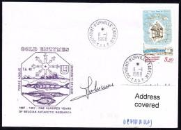 """ANTARCTIC, BELGIEN On TAAF,d'URVILLE, 11.1.1998, """"COLD ENTYMES"""" Uni Of LiegeCachet + Signature, Look Scan !! 24.11-08 - Antarctische Expedities"""