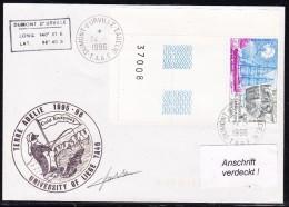 """ANTARCTIC, BELGIEN On TAAF,d´URVILLE, 24.1.1996, """"COLD ENTYMES"""" Uni Of Liege,Cachet + Signature.24.11-09 - Antarctische Expedities"""