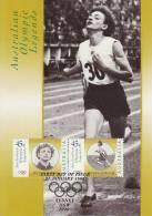 Australia-1998 Olympic Legends Marjorie Jackson  Gold Medal In 1952 Helsinki Games    Maximum Card - Summer 1952: Helsinki