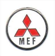 Z160 Pin´s Auto Car Logo MITSUBISHI MEF Diametre 19 Mm  ACHAT IMMEDIAT - Mitsubishi