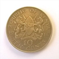 Kenya - 10 Cents 1980 - - Kenya