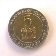 Kenya - 5 Shillings 1995 - Superbe - - Kenya