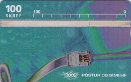 Iceland, ICE-D-19, Telephone Cable, 2 Scans. - Iceland
