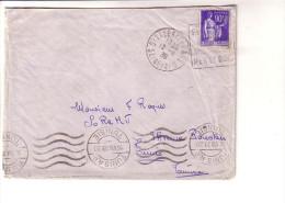 Paix Daguin St Valéry En Caux Pour Tunisie 12/8/39 - Marcophilie (Lettres)