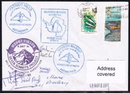 """ANTARCTIC, BELGIEN On Base FREI ,1998, """" MOUNT VINSON Climbing Exped. """", 4 Cachets + 6 X Sign , Look Scan !! 24.11-17 - Antarctische Expedities"""