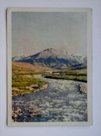 Post Card From Kyrgyzstan Ussr  1964 Year Mountains Berg River - Kirgisistan
