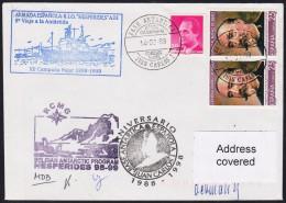 """ANTARCTIC, BELGIEN On Base J.CARLOS 1999 Exp. HESPERIDES"""", 3 Cachets+ 2x Sign  !! 24.11-22 - Antarctische Expedities"""