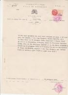 1971 - Mairie De BORDEAUX Gironde Extrait Acte Décès  - Timbres Fiscaux Taxes Communales - Vieux Papiers