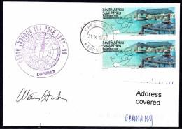 """ANTARCTIC, BELGIEN , 1997-98 """" Exp. SOUTH THROUGH THE POLE"""",  Cachet + Sign , Look Scan !! 24.11-16 - Antarctische Expedities"""