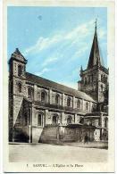 76 SANVIC ++ L'Eglise Et La Place ++ - Autres Communes