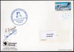 """ANTARCTIC, BELGIEN , 1995/96 """" Exp. MONT VINSON Last Summit """",  Cachet + Sign Climbers , Look Scan !! 24.11-04 - Antarctische Expedities"""