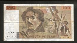FRANCE - BANQUE De FRANCE - 100 Francs DELACROIX (1993) Serie: D. 228 - 1962-1997 ''Francs''