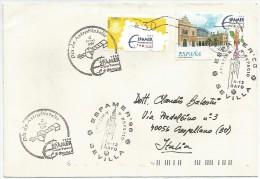 Space, Sevilla, Espana, 4/12.5.1996, Espamer, Aviacion Y Espacio, Dia De Astrofilatelia, Etichetta Adesiva + Francobollo - Europa