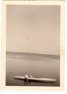 Photo Originale Bateau - Cano� BOIS - L�gende au dos.