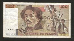FRANCE - BANQUE De FRANCE - 100 Francs DELACROIX (1990) Serie: M. 179 - 1962-1997 ''Francs''