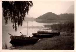 Photo Originale Bateau - 44240 Suc� sur Erdre - Barques en bois au bord de L'Erdre en 1965 - Alpino - Dora -