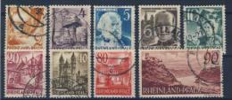 Rheinland Pfalz Michel No. 32 - 41 gestempelt used / ohne No. 36