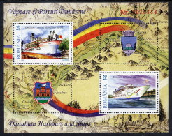 ROMANIA 2007 Danube Shipping Block   MNH / **.  Michel Block 416 - 1948-.... Republics