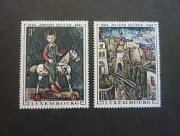 LUXEMBOURG, Année 1969, YT N° 741 Et 742 Neufs, Très Légère Trace Charnière - Ongebruikt