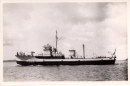 Photo Originale Bateau - Navire de Guerre - M 652 - Pavillon Fran�ais, Mitrailleuse - Equipage -