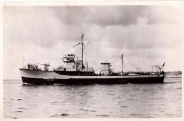 Photo Originale Bateau - Navire de Guerre - M 651 - Pavillon Fran�ais, Mitrailleuse - Equipage -
