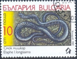 Aesculapian Snake (Elaphe Longissima), Bulgaria Stamp SC#3492 Used - Bulgarie