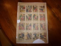 Vers 1900 Image D'Epinal   Historiette Militaire Rigolote       OH!  LA LA !  MA DENT!                 Planche N° 606 - Vieux Papiers