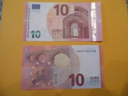 BILLET PAYS BAS  DE  10 EUROS P 002F5   PA  DRAGHY  UNC - EURO