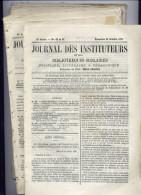 JOURNAL DES INSTITUTEURSLot de 11 N� du 9/10/1870 au 26/11/1871Des trous sur le cot� gauche du a des fils car provienn