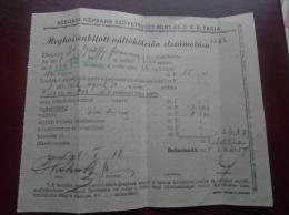 Hungary  Szeged - Népbank Váltókölcsön Elszámolása   1938    D133577.5 - Shareholdings