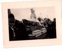 Photo Originale Bateau - LA VIERGE NAUTONI�RE - Procession Religieuse - P�cheurs - Mer - Culte - Religieux