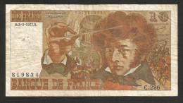 FRANCE - BANQUE De FRANCE - 10 FRANCS (1977) - BERLIOZ - Serie: C. 296 - 1962-1997 ''Francs''