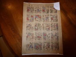 Vers 1900 Imageries Réunies De Jarville-Nancy            LE SINGE MAÎTRE D'ECOLE       Contes Des Fées  Planche N° 556 - Verzamelingen