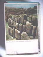 Peru Cuzco Ruinas De La Fortaleza Saczahuaman - Peru