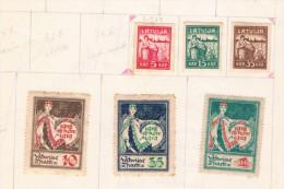Conjunto De Sellos Nuevos Y Usados Por Paises En Hojas. Total De Sellos 383 - Colecciones (sin álbumes)