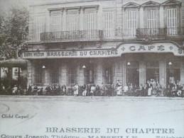 CPA Bouches Du Rhône  Marseille Brasserie Du Chapitre  Café Animée - The Canebière, City Centre