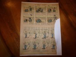 Vers 1900       Imagerie D'Epinal  N° 4013     UN MELON TRUQUE,   LE COUP DU PERE FRANCOIS - Verzamelingen