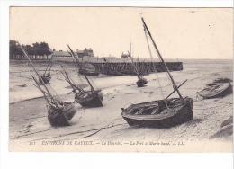 25509 LE HOURDEL 80 France - Environs De CAYEUX - Port à Marée Basse -211 LL Barque Bateau Voile Peche - Pêche