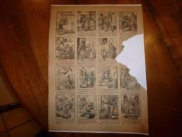 Vers 1900       Imagerie D'Epinal  N° 664    LE DOCTEUR POLICHINEL           Pellerin & Cie - Vieux Papiers